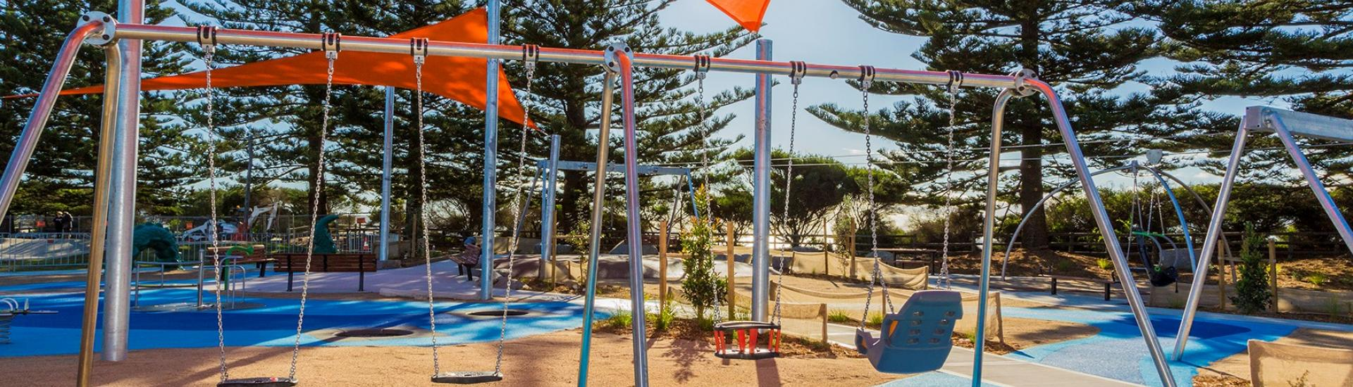 accessible playground swings